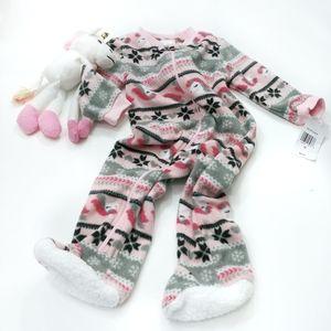 NWT Unicorn Fleece Pajamas Size 3-6 Months